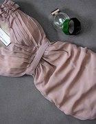 nude sukienka jedna sztuka