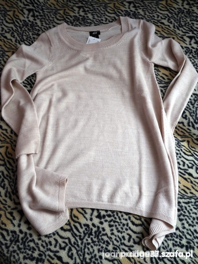 HM sweter oversize asymetryczny...