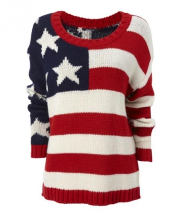 dab3ef2d9914e Sweter z flagą USA w Ubrania - Szafa.pl