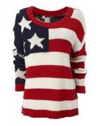 Sweter z flagą USA