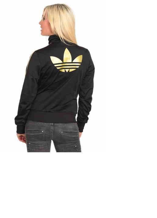 eleganckie buty Gdzie mogę kupić kupuj bestsellery Adidas bluza ze złotymi paskami w Bluzy - Szafa.pl