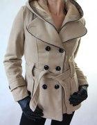 włoski płaszcz z kapturem kolory S M L XL XXL