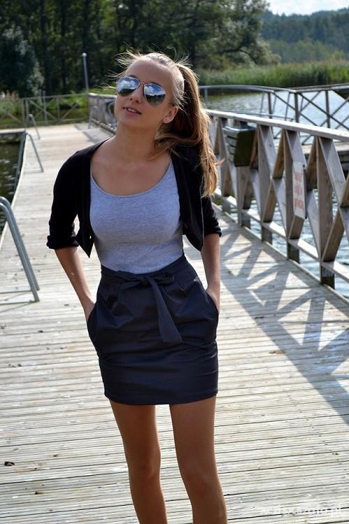 Mój styl sukienka z cropp
