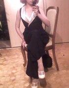 Spodnium czarno białe