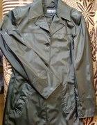 kurtka satynowa czarna płaszczyk