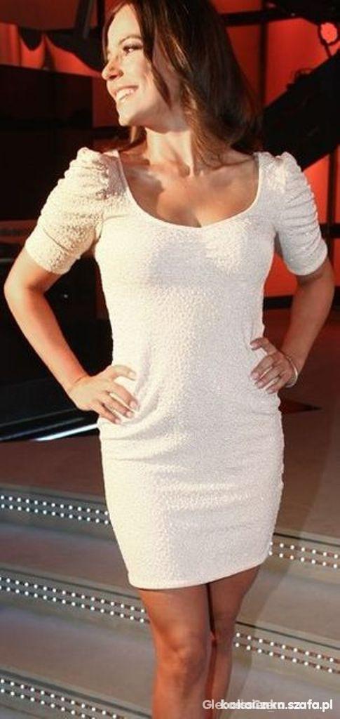 Koronkowa sukienka jAK HM Anna Mucha nude XS w Suknie i