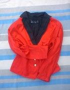 czerwona marynarka L XL