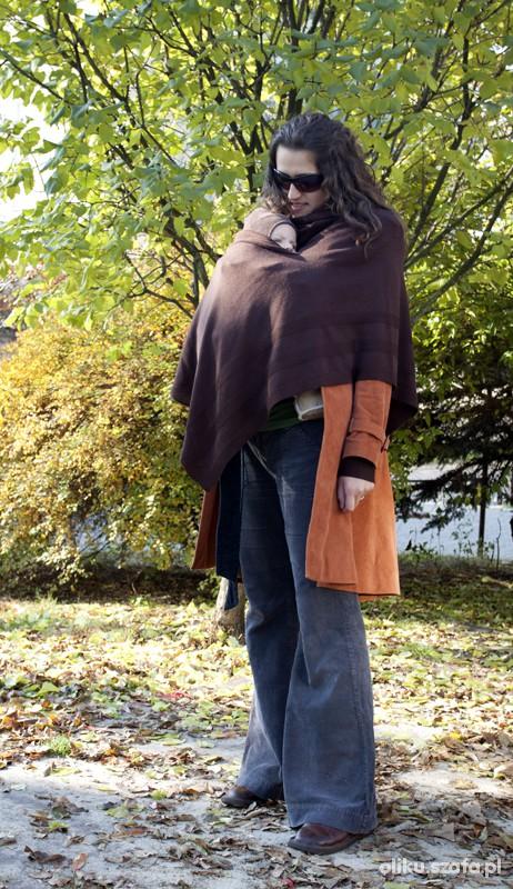 Mój styl chustowo ponczowo jesiennie