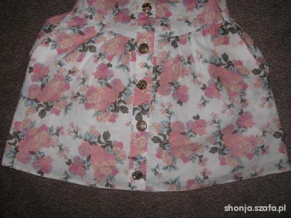 Kremowa spódniczka floral ATMOSPHERE