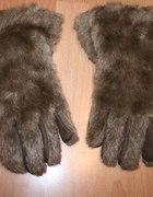 włochate rękawiczki