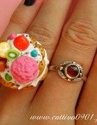 Słodki pierścionek fimo