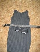 sukienka ołówkowa w prążek