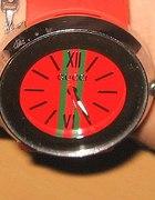 zegarek gucci jelly gumowy czerwony...