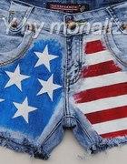 szorty DIY sharparrow flaga USA NOWE