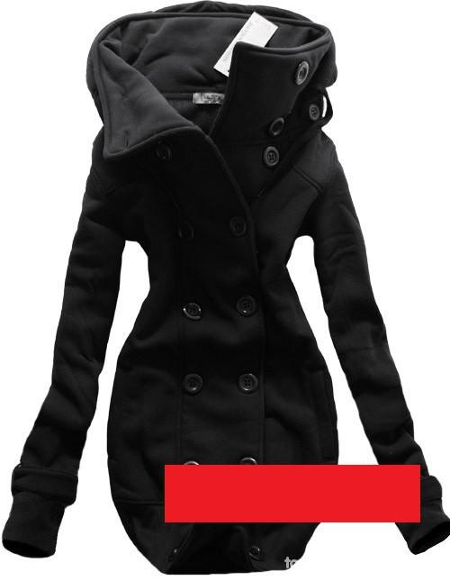 Ubrania Bluza tunika na guziczki dwurzędowe czarna
