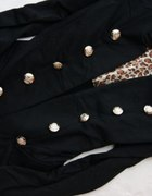 Marynarka żakiet bolerko z pagonami