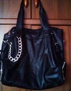 Duża czarna torba mnóstwo przegródek
