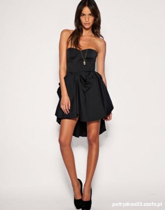 adf3ce853f0e ASOS czarna sukienka tren w Suknie i sukienki - Szafa.pl