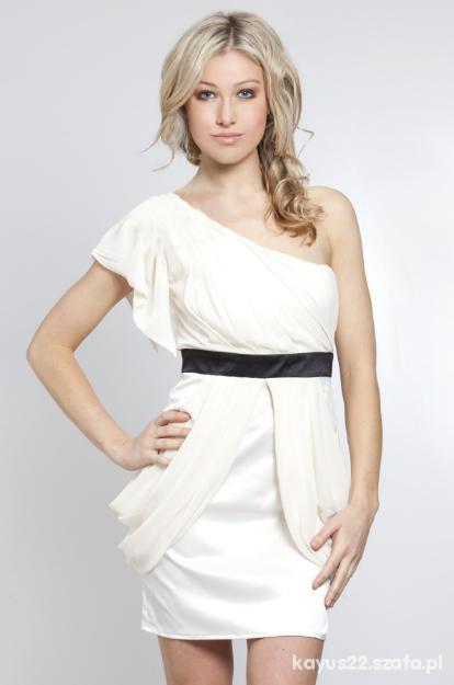 66562310eb ASOS piękna elegancka sukienka ecru wesele 38 M w Suknie i sukienki ...