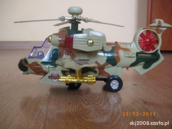 Zabawki Wojskowy helikopter świeci wydaje dzwieki jezdzi