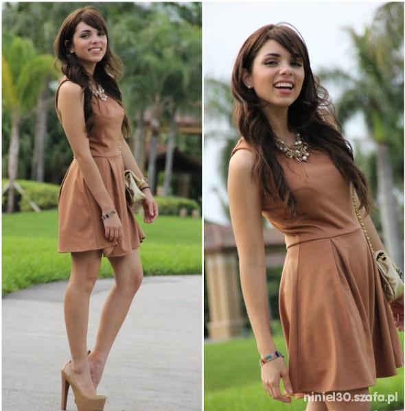 Suknie i sukienki rozkloszowana szara