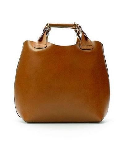 Shopper BAG model ZARA camel HIT