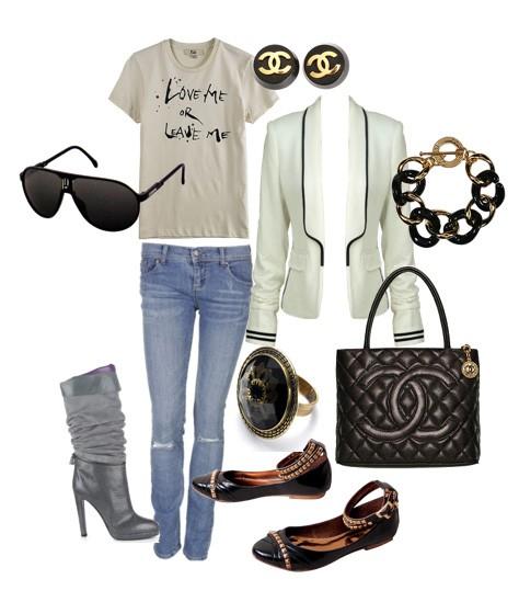 Eleganckie Elegancki zestaw Chanel