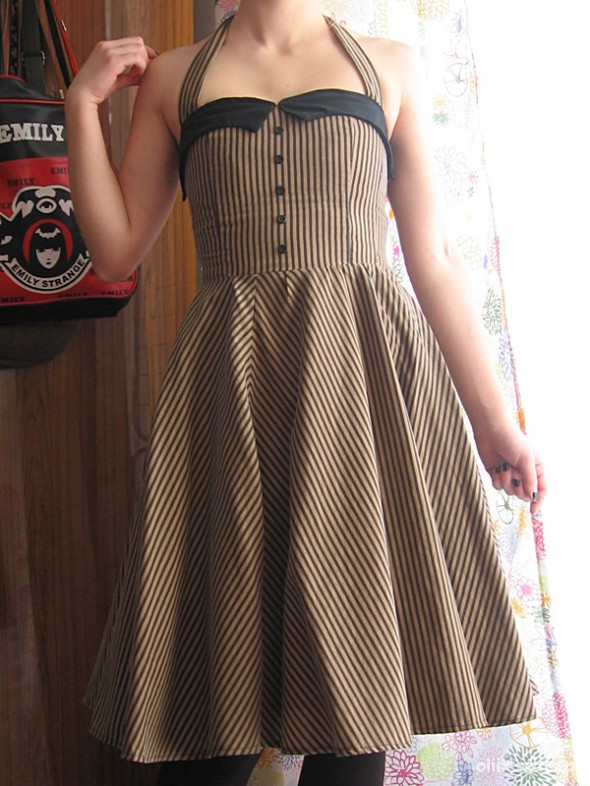 Suknie i sukienki Sukienka w paski pin up handmade