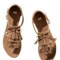Sandały HM 36 37 frędzle