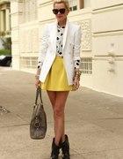 żółta spódniczka