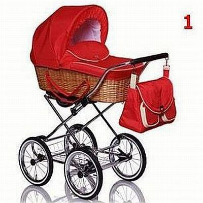 Wózki i foteliki wózek wiklinowy Clasik Retro