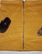 Spódnica BANDAŻOWA zip S M L musztardowa