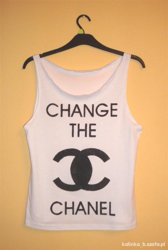 biała bokserka CHANGE THE CHANEL