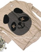 Sweter OVERSIZE z panda misiem