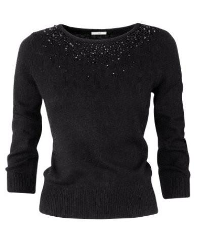 czarny sweter z perełkami...