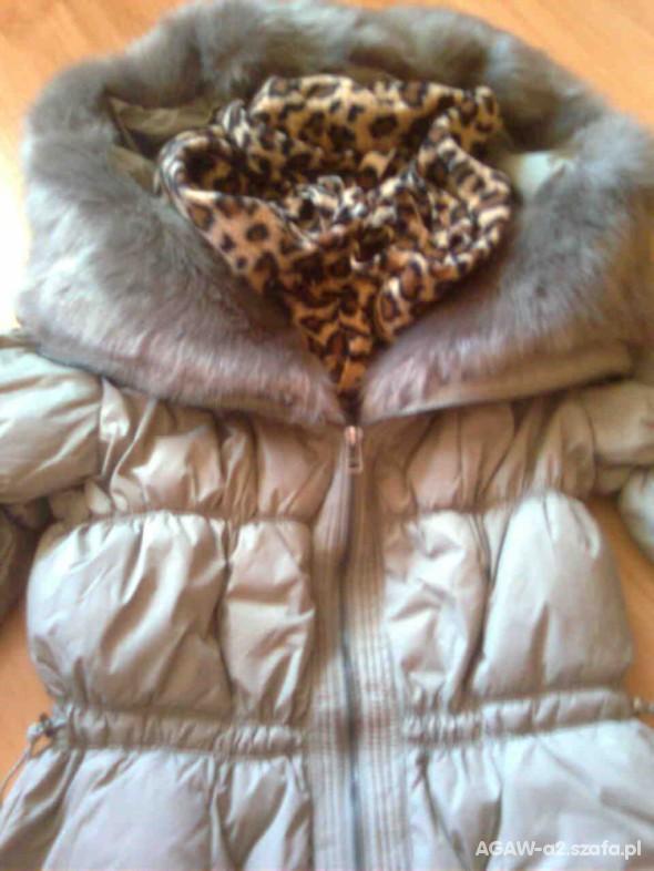 Płaszczyk Zara plus torba worek carmel
