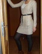 długi sweter i buty