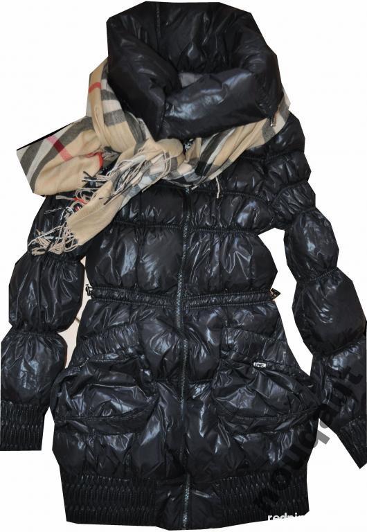 ZARA BASIC taliowany płaszcz pikowana kurtka 38 w Odzież