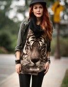 koszulka z tygrysem oversize tygrys