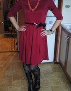 czerwona elegancka