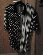 Koszula vintage w kropki i paski