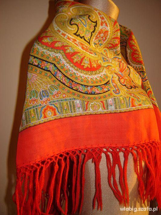 Chusty i apaszki chustka piekna fredzle duza