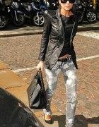 Jeans plus skóra