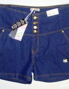 spodenki jeans wysoki stan