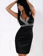 Zjawiskowa Sukienka na ramiączka z kamieniami...