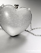 Srebrna torebka serce pudełeczko na łańcuszku...