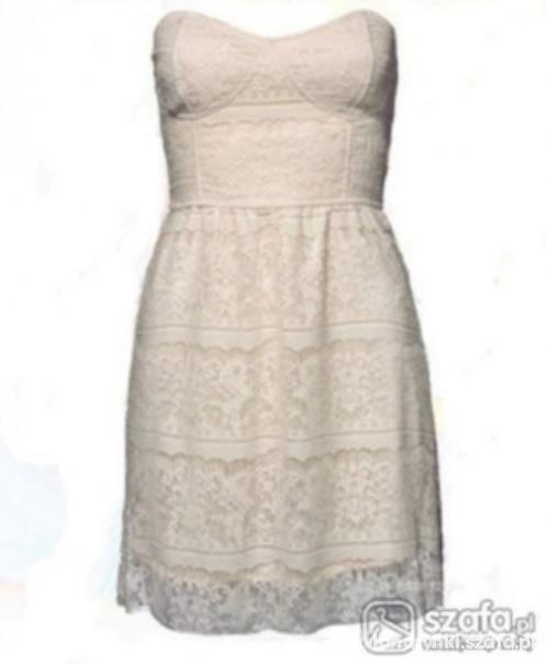 Biała koronkowa sukienka amisu...