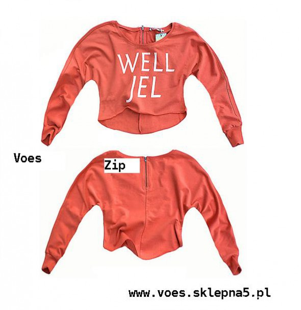 morelowa bluza oversize zip