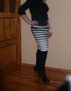 spodnica czarno biała...
