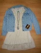 Sukieneczka z jeansowa kurteczka